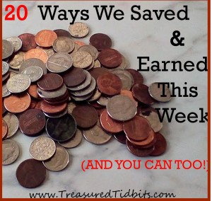 20 Ways We Saved and Earned This Week