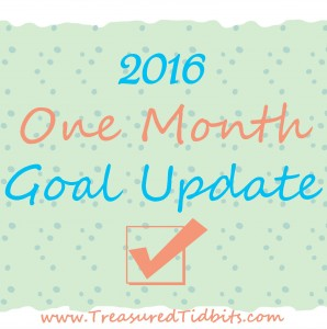 2016 One Month Goal Update