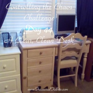 Controlling the Chaos Challenge Day 44- A Clear Clean Desk