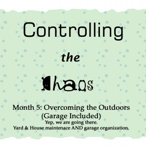 Controlling the Chaos Month 5 The OUtdoors and the Garage