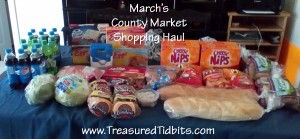 March's County Market Shopping Haul