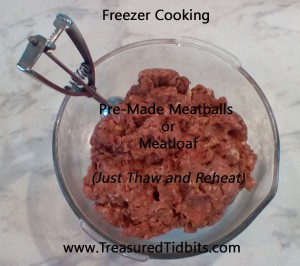 Freezer Cooking Meatbalss
