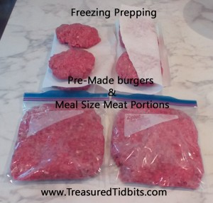 Freezer Prepping Pre-Made Burgers