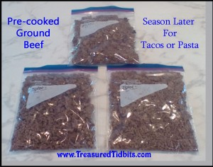 Precooked Ground Beef