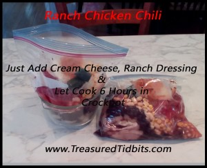 Ranch CHicken CHili Freezer Cooking