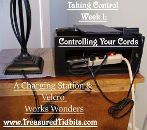 A Charging Station and Velcro Works Wonders Taking Cord Control