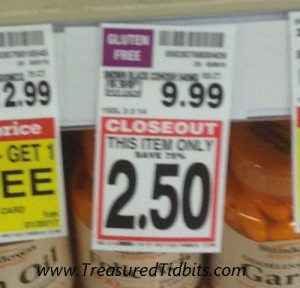Kroger Closeout Tags