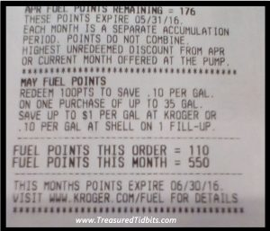 Kroger Fuel Rewards