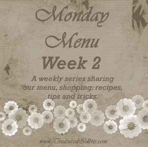 Monday Menu Week #2