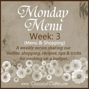 Monday Menu Week 3