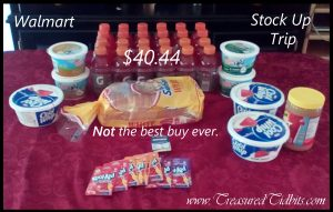 Walmart Shopping Stock Up May