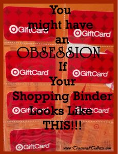 You might have an obsession Target cards