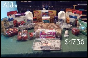 Aldis Grocery Shopping June Week 1