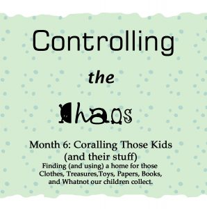 Controlling the Chaos Month 6 Coralling the Kids and Their Stuff