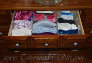 Dresser Drawer Organization- Middle