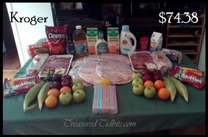 Kroger Grocery Shopping Week 1 June