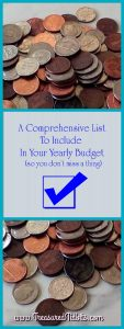 Budget Checklist Yearly