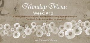 Monday Menu #10 Banner