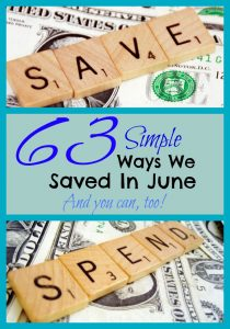 Pinterest 63 Ways We Saved In June
