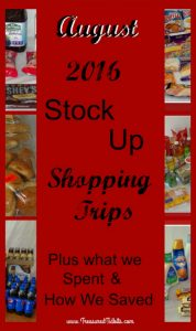 August 2016 Shopping Trips Stocking Up PIN