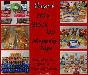 August Shopping Trips & Stocking Up