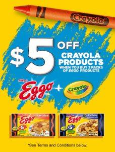 Crayola Kelloggs Deal