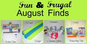 Fun & Frugal August Finds