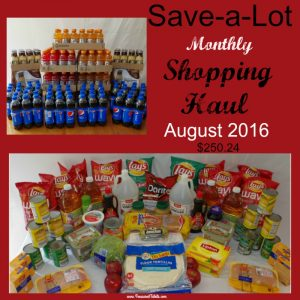 Save a Lot Monthly Shopping Haul August 2016 Stocking up