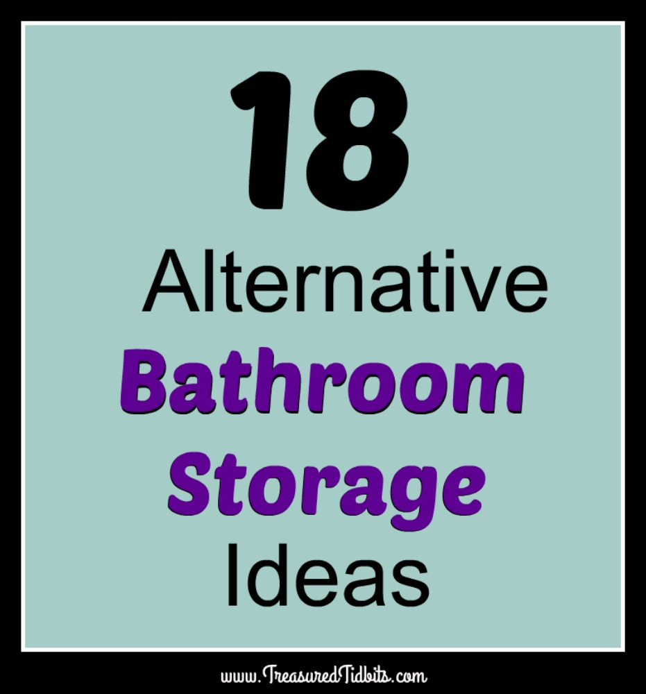 treasured tidbitstina 18 alternative bathroom storage ideas