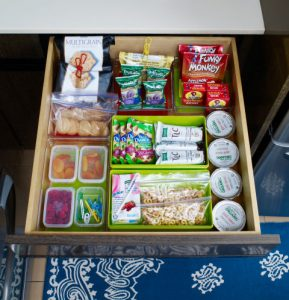 Kitchen Drawers Snack Station