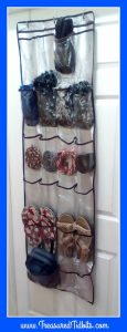 clever closet rod organization use hanging pockets