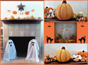 fireplace-collage-for-halloween-party-on-a-budget
