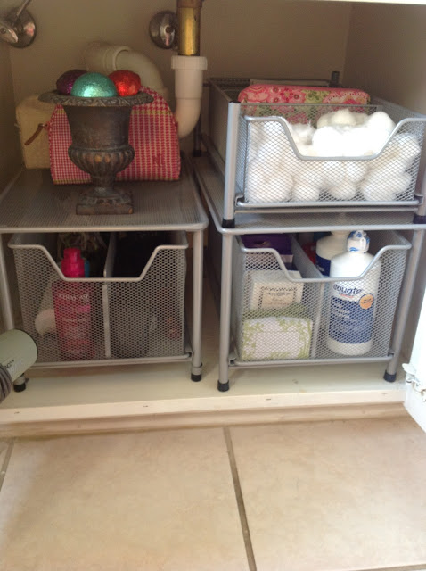 Treasured tidbits by tina 10 ways to maximize storage under the bathroom sink on a budget - Maximizing space in a small bathroom collection ...