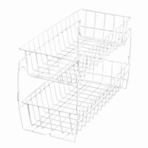 under-the-kitchen-sink-organization-2-tier-sliding-white-basket
