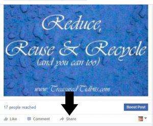 Share your favorite blogger's Facebook posts to encourage and support them.