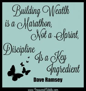 Building Wealth is a marathon, not a sprint. Discpline is a Key Ingredient.