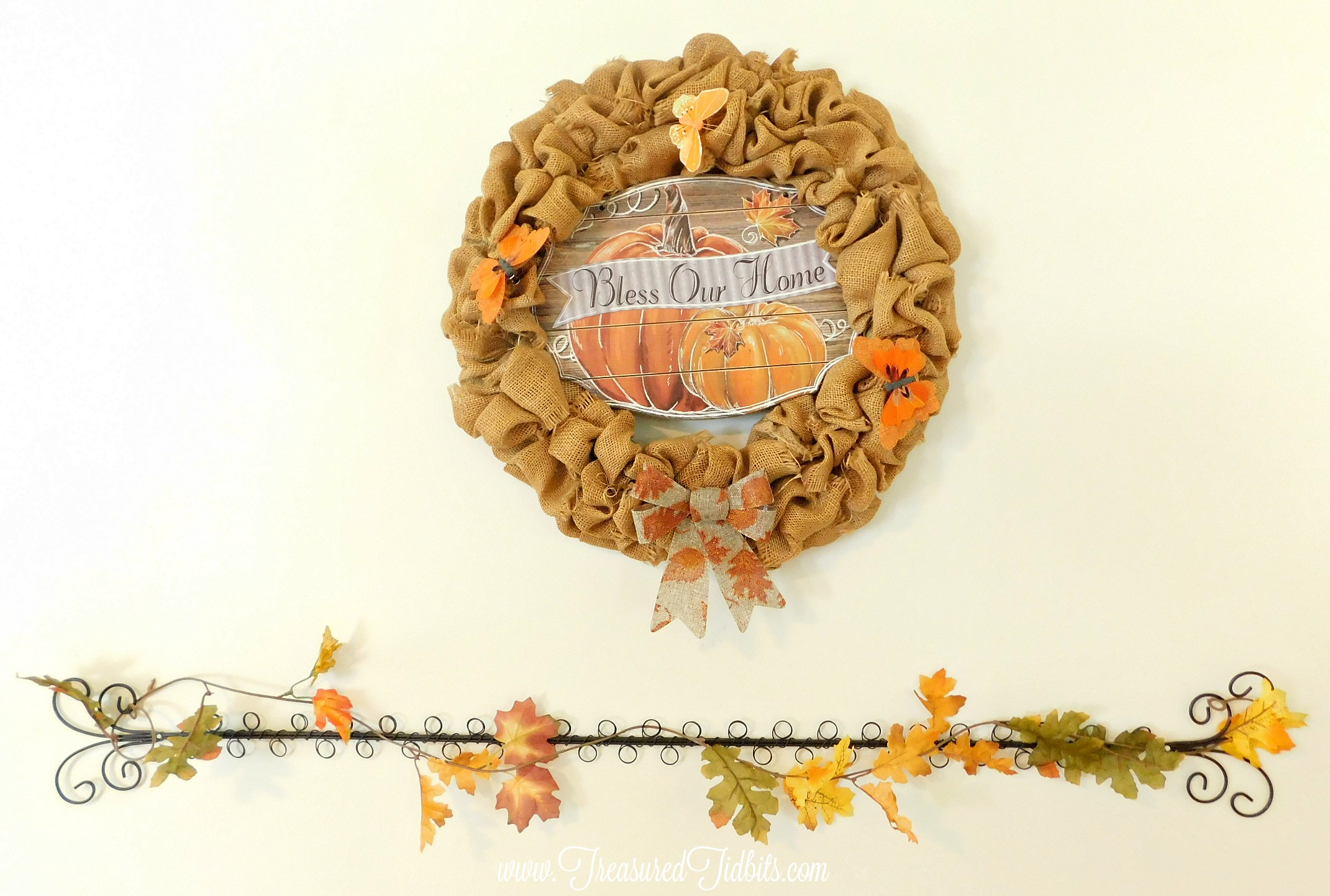 Fall Tour House on the Hill Burlap Wreath Fall Dollar Tree Accents