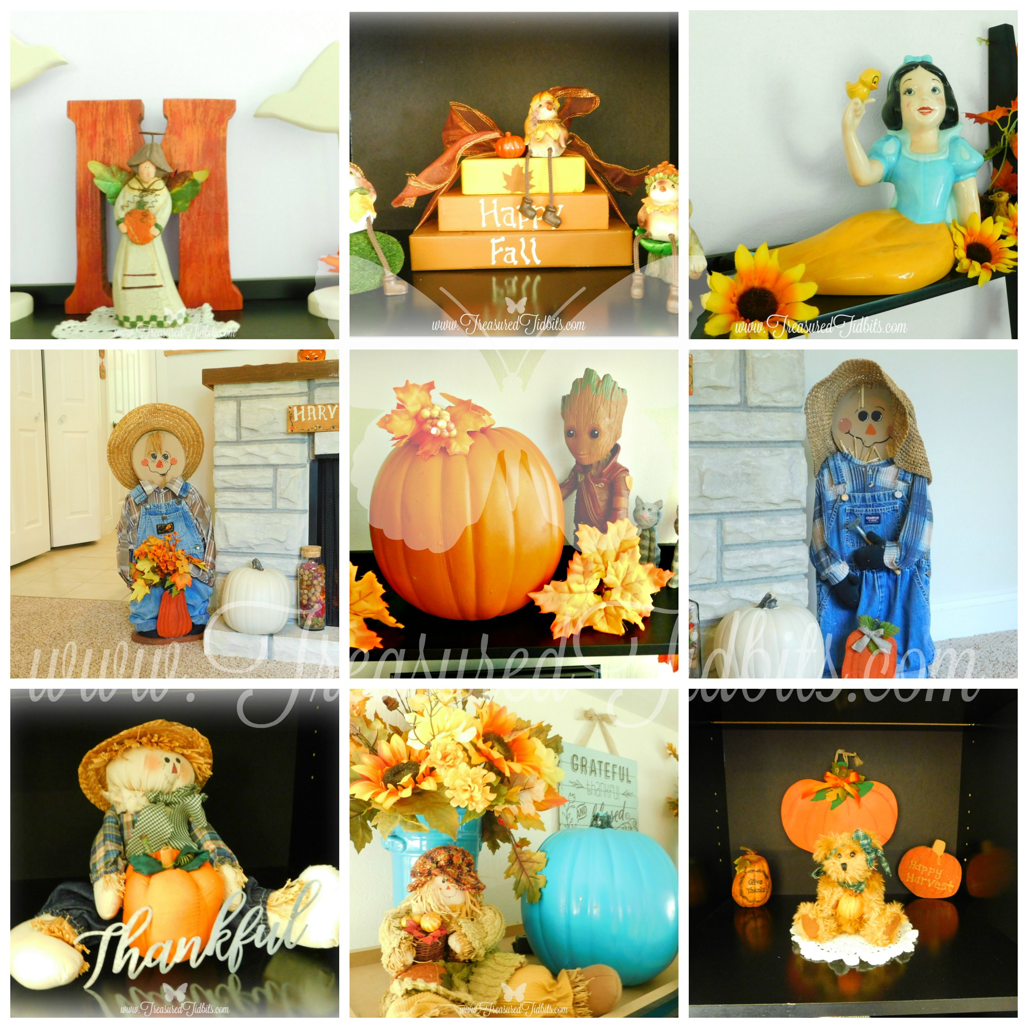 Fall Tour House on the Hill Wit & Whimsies Groot, Scarecrows, Snow White, Bears